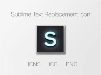 Sublime Text Icon by RFC Design by RedFatCatDesign