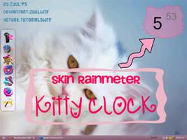 Skin Rainmeter Kitty Clock by ZuulWtf