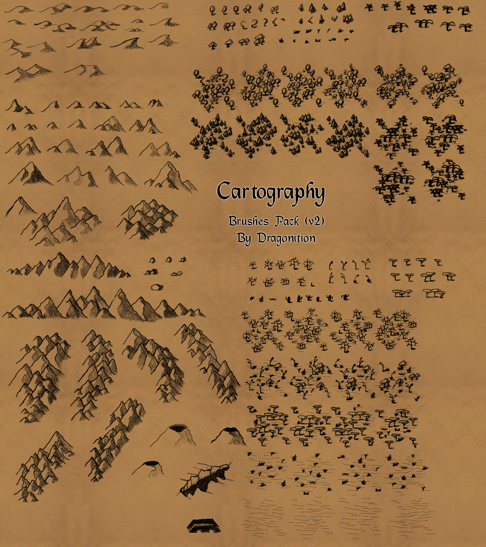 Cartography brushes by Eragon2589