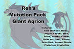 Rehs Mutation Pack! [Giant Aqrion] by RehARPG