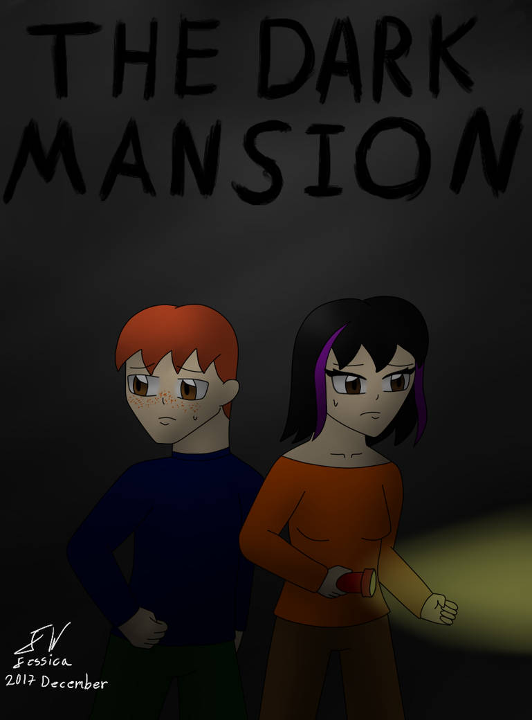 The dark mansion Cover