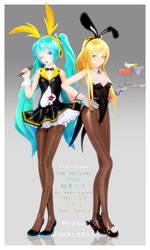 [DL] TDA Miku and Lily Bunny Duo Pack!