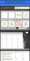 Photoshop Template for Thumbnailing Art + Designs