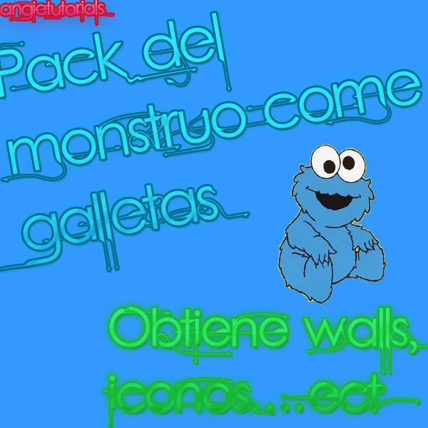 Pack del monstruo come galletas by ~Angie12Harry on deviantART