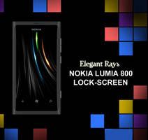 Lumia 800 Wallpaper : Elegant Rays by bladerahul