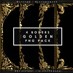 GOLDEN BORDERS | PNG PACK