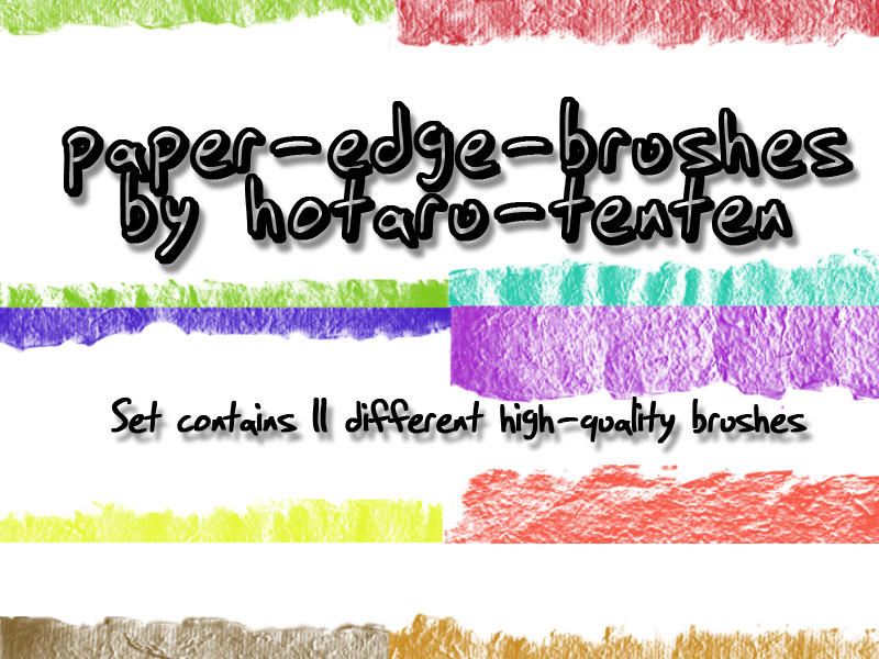 paper edge brushes for PS by hotaru-tenten