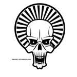 Skull vector clip art by Vectorportal