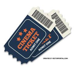 Movie tickets vector image by Vectorportal