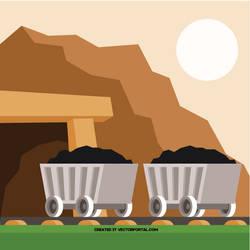 Mining coal vector clip art by Vectorportal