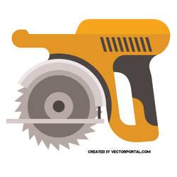 Circular saw vector image by Vectorportal
