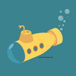 Submarine vector image by Vectorportal