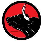 Bull vector clip art by Vectorportal