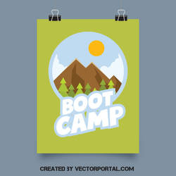 Boot camp vector graphics by Vectorportal