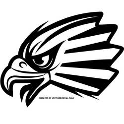Falcon vector clip art by Vectorportal