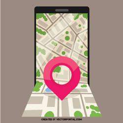 City map vector image by Vectorportal