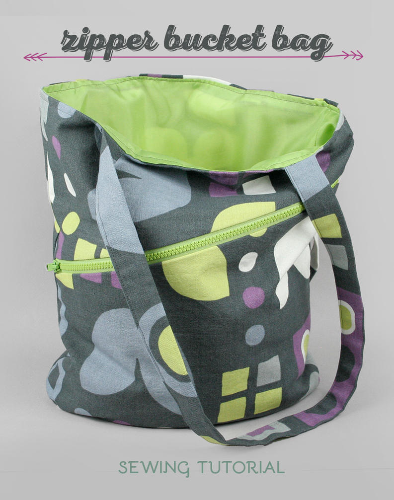 Sewing Tutorial: The Zipper Bucket Bag by SewDesuNe