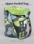 Sewing Tutorial: The Zipper Bucket Bag