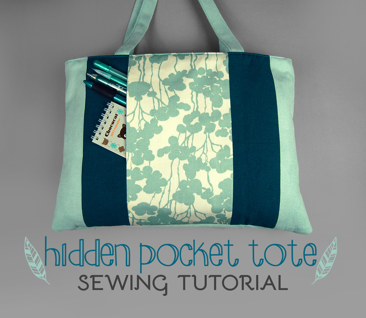 Sewing Tutorial - The Hidden Pocket Tote by SewDesuNe