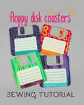 Sewing Tutorial - The Floppy Disk Coasters