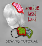 Sewing Tutorial - Exposed Brain Zombie Headband