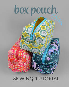 Sewing Tutorial - Zippered Box Pouch