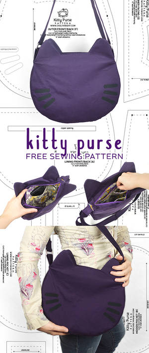 Sewing Tutorial - Kitty Purse