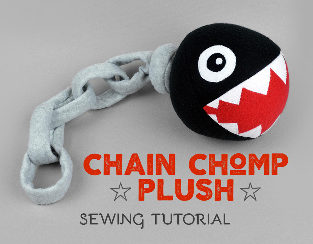 Sewing Tutorial Super Mario Chain Chomp Plush By Sewdesune On