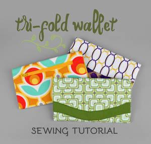 Sewing Tutorial - Tri-fold Wallet