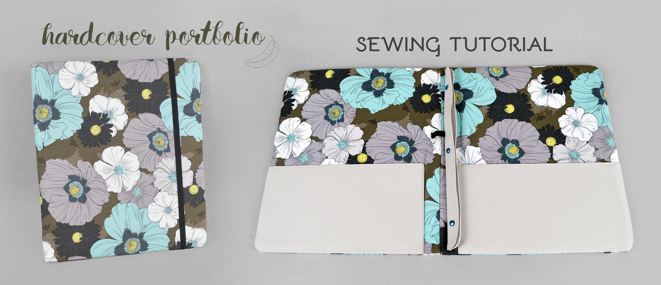 Hardcover Portfolio Sewing Pattern by SewDesuNe