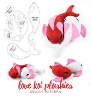 Love Koi Plushies Sewing Pattern