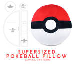 Supersized Pokeball Pillow Sewing Pattern