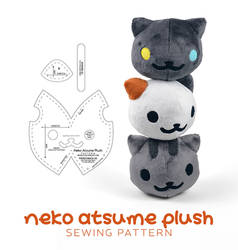 Neko Atsume Plush Sewing Pattern