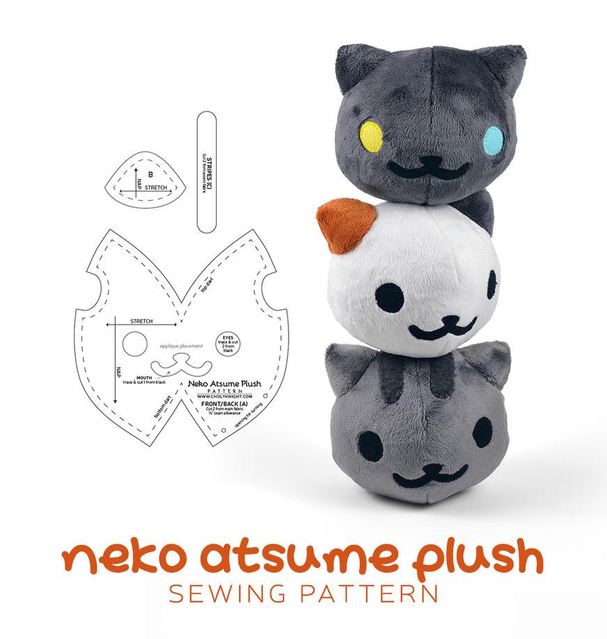 Neko Atsume Plush Sewing Pattern By Sewdesune On Deviantart