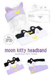 Moon Kitty Headband Sewing Pattern by SewDesuNe