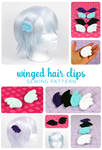 Winged Hair Clips Sewing Pattern