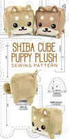Shiba Cube Plush Sewing Pattern