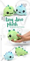 Tiny Dino Plush Sewing Pattern