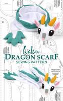 Haku Dragon Scarf Sewing Pattern by SewDesuNe