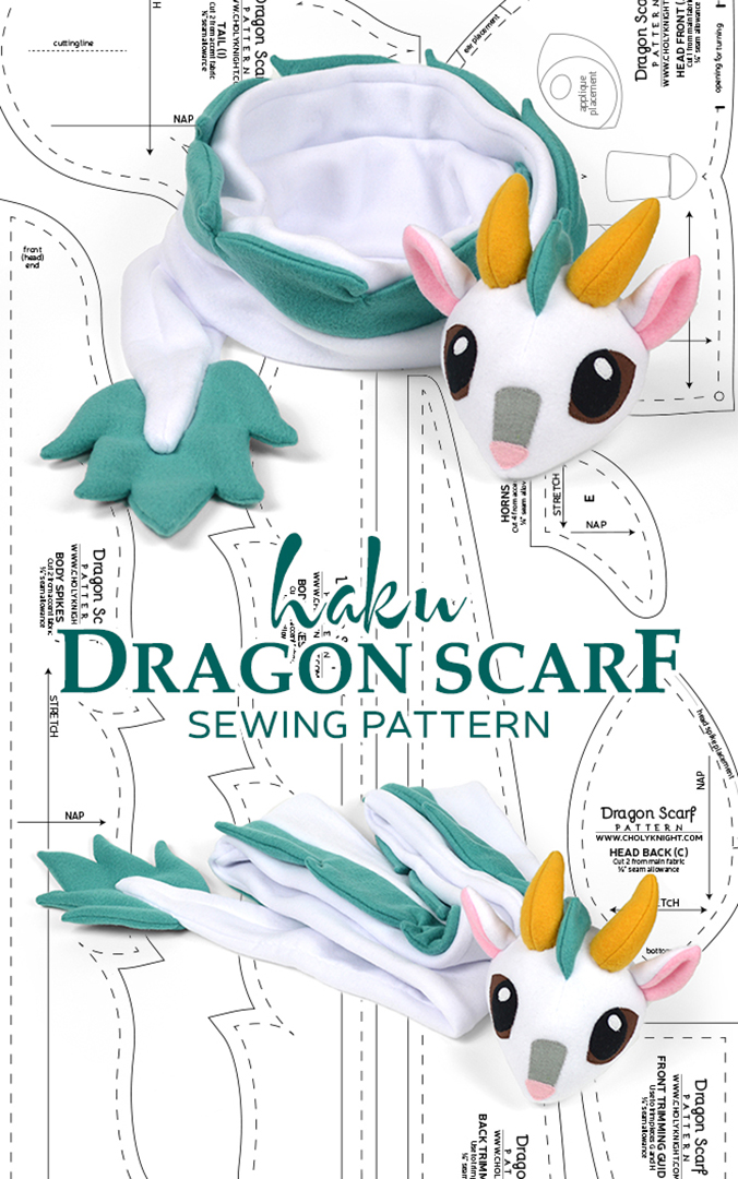 Haku Dragon Scarf Sewing Pattern by SewDesuNe on DeviantArt