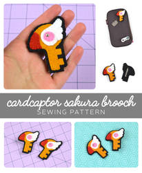 Card Captor Sakura Brooch Sewing Pattern by SewDesuNe