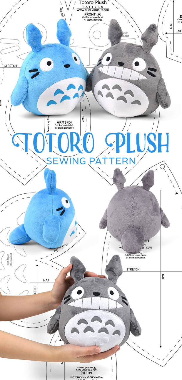 Totoro Plush Sewing Pattern by SewDesuNe