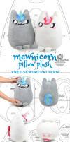 Mewnicorn Kitty Unicorn Plush Sewing Pattern