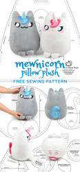 Mewnicorn Kitty Unicorn Plush Sewing Pattern by SewDesuNe