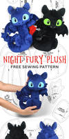 Night Fury Toothless Plush Sewing Pattern