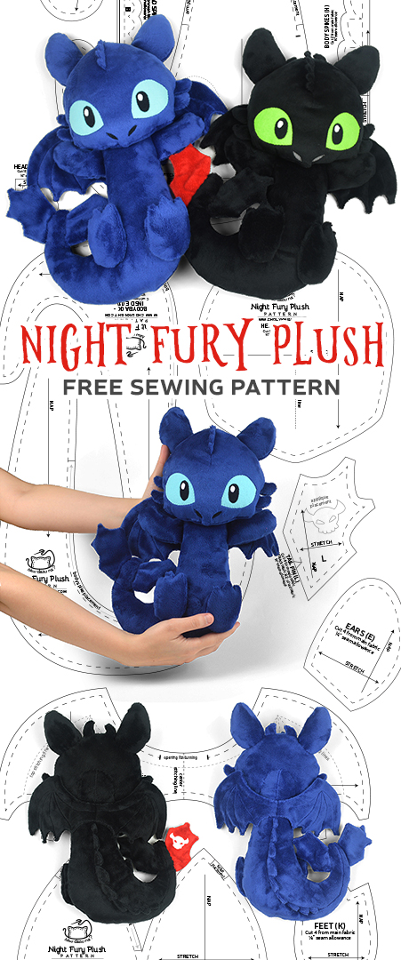 Night Fury Toothless Plush Sewing Pattern By Sewdesune On Deviantart