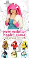 Eevee Evolution Hooded Shrug Sewing Pattern