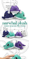 Narwhal Plush Sewing Pattern