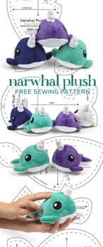 Narwhal Plush Sewing Pattern