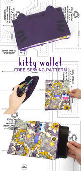 Kitty Wallet Sewing Pattern